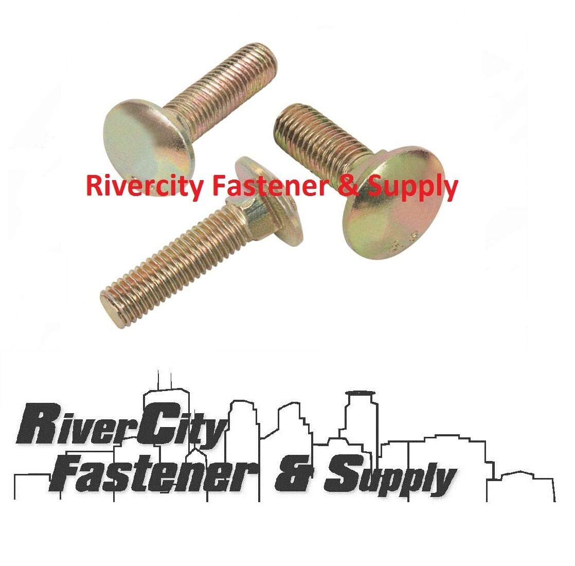 5 Durable and Sturdy M8-1.25x20mm or M8x20 mm Carriage Bolts//Screws 8mm x 20mm Good Holding Power in Different Materials