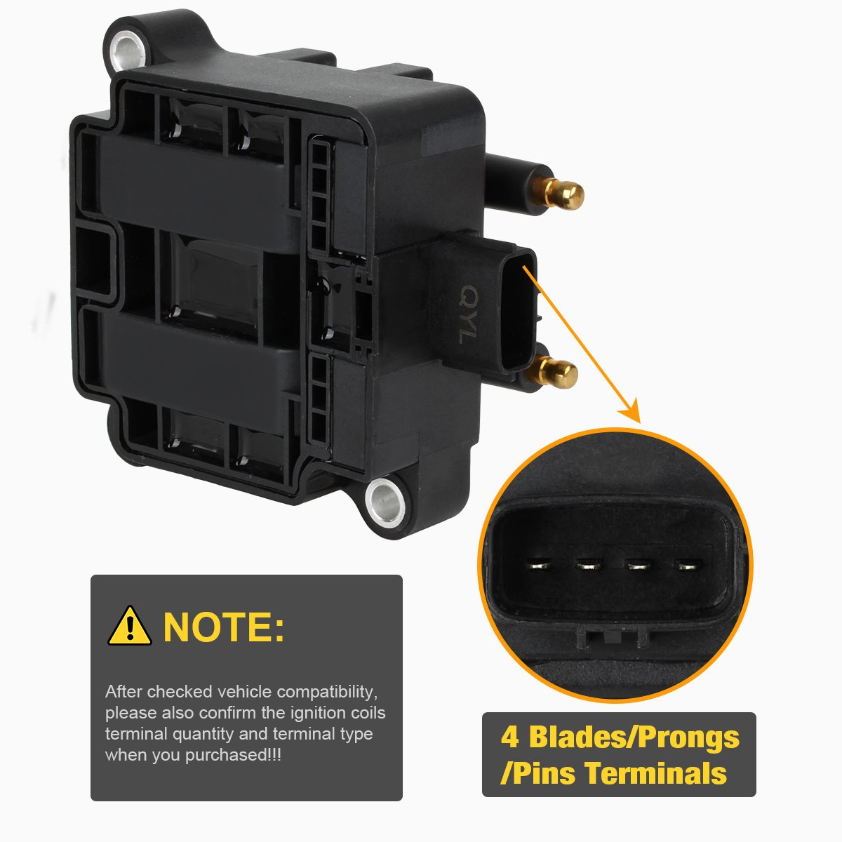 Ignition Coil Pack With 4 Pins For Subaru 22l 25l Wiring Diagram Compatible C1228 Uf240 22433 Aa410 Aa570 Automotive