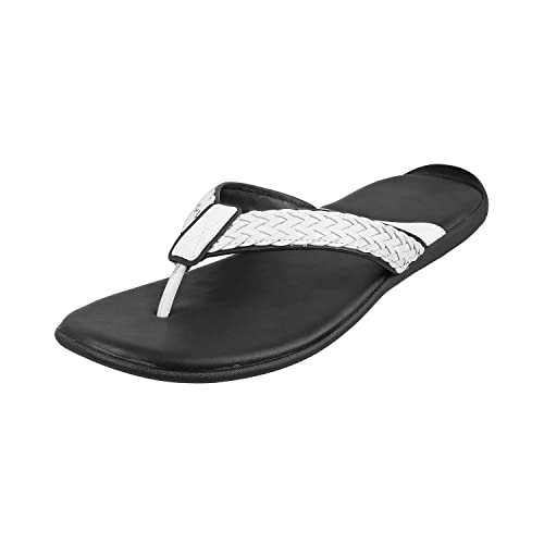 17b205dce972be Mochi Men White Leather Thong (16-9422)  Buy Online at Low Prices in India  - Amazon.in