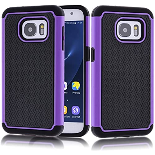 S7 Case, Galaxy S7 Case,Kmall [Shock Absorption] Impact Resistant Heavy Duty Dual Layer Hybrid Full-Body Shockproof Protective Skin Cover Shell Sales