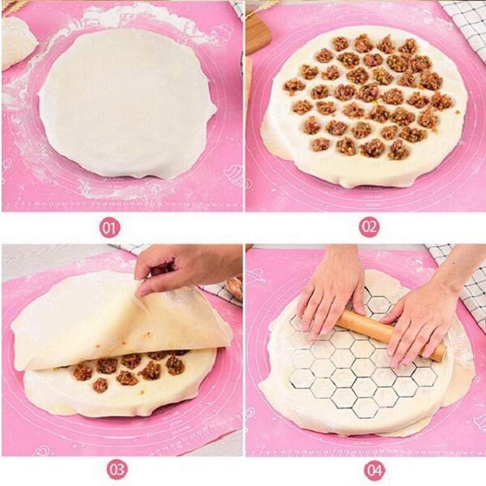OPNIGHDYMD Outils de Bricolage Cuisine 37 Trous Dumplings Maker Boulette Moule Ravioli quenelles Moule en Aluminium p/âtisserie Faire Boulette