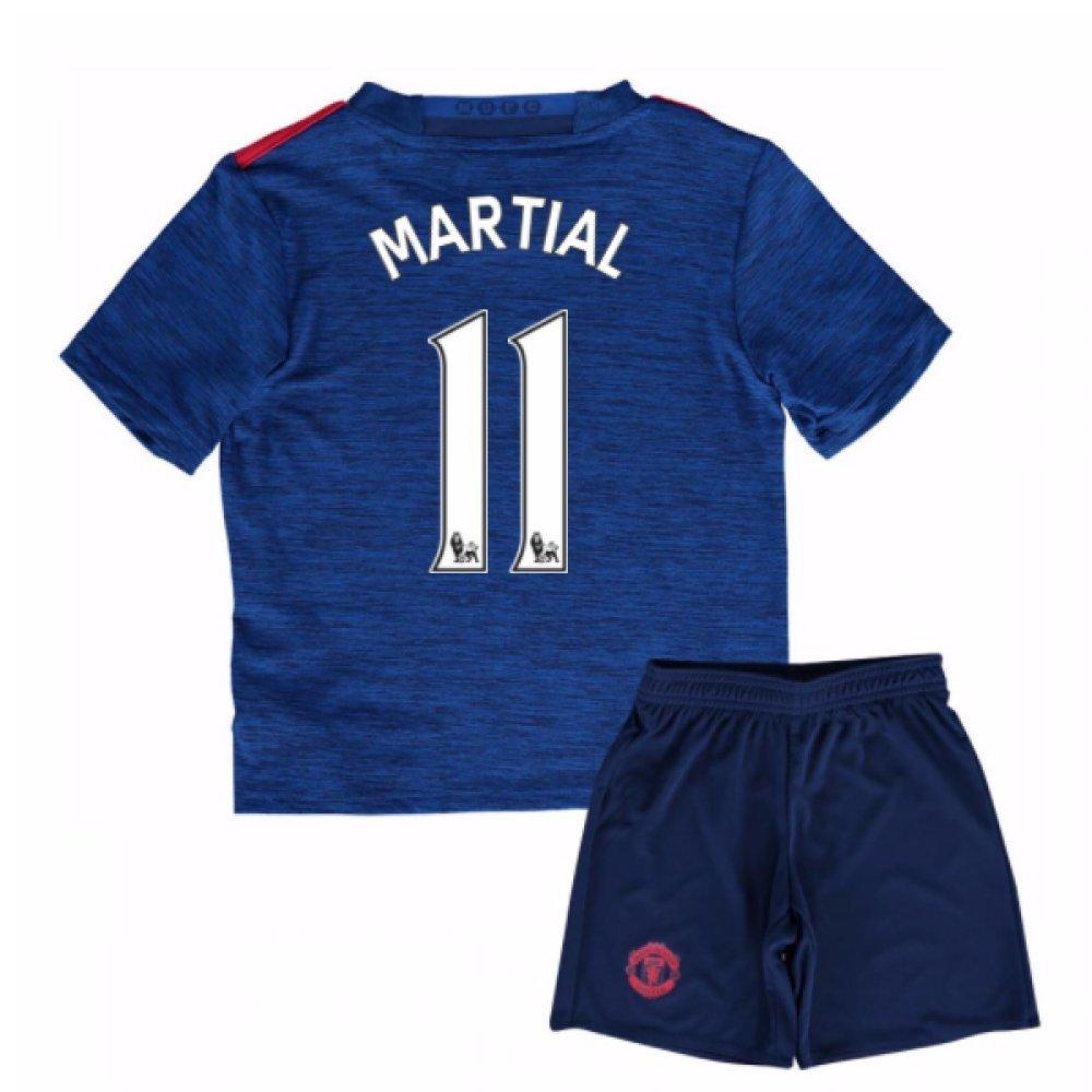 UKSoccershop 2016-17 Man United Away Mini Kit (Anthony Martial 11)