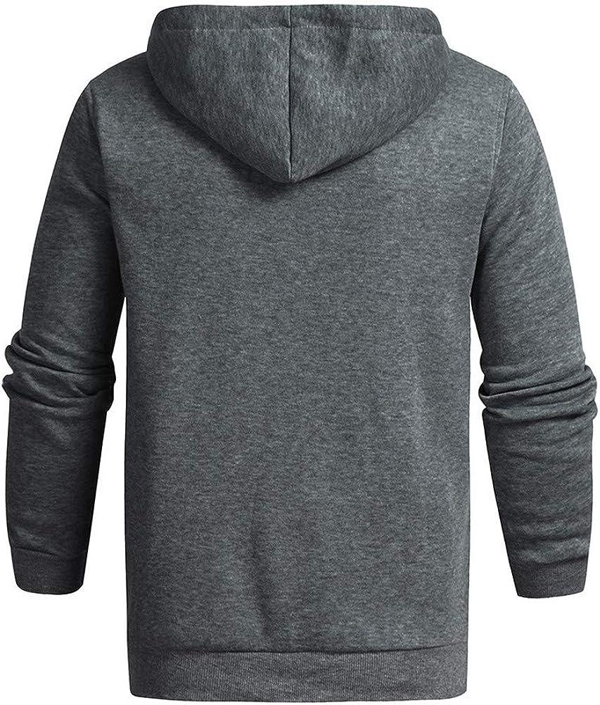 Men/'s Warm Hoodie Fleece Tops Hooded Jacket Casual Sweatshirt Gym Pullover Coat