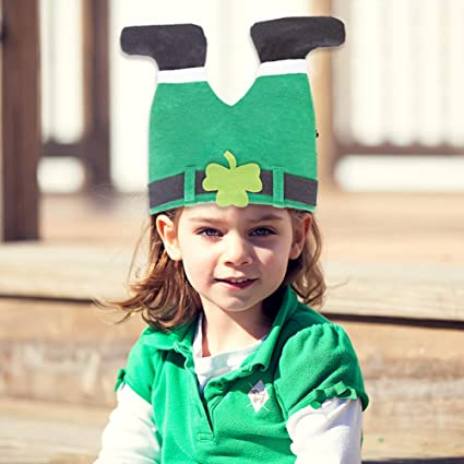 April Fools Day Decorations DomeStar St Patricks Day Hat Funny Hat Novelty Green Hat Crazy Hats Patricks Pants Hat