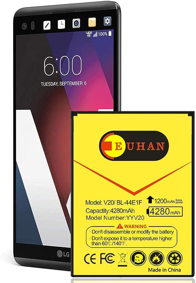 Batería de Repuesto para LG V20, 4280 mAh, ampliada, Delgada, BL ...