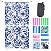 NewLyfe Sand Free Microfibre Beach Towel – Quick Dry, Extra Large 180x90cm Yet Ultra Compact and Lightweight for Caravan…