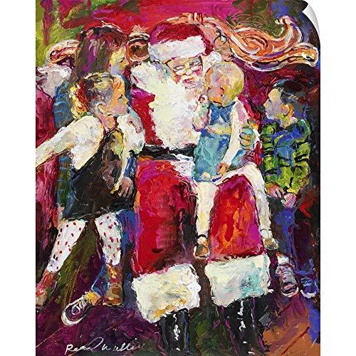 (CANVAS ON DEMAND Santa and Bailey Wall Peel Art Print, 29
