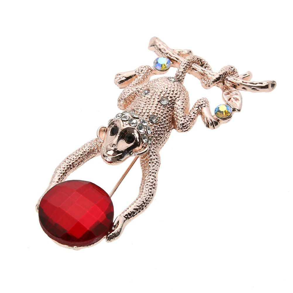Amazon.com: ForU-1 Monkey - Broche de cristal de diamante ...