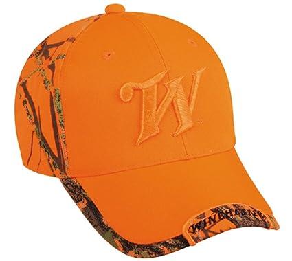 e40affa810 Amazon.com   Winchester Mossy Oak Blaze Orange Ball Cap WIN25C   Sports Fan Baseball  Caps   Sports   Outdoors