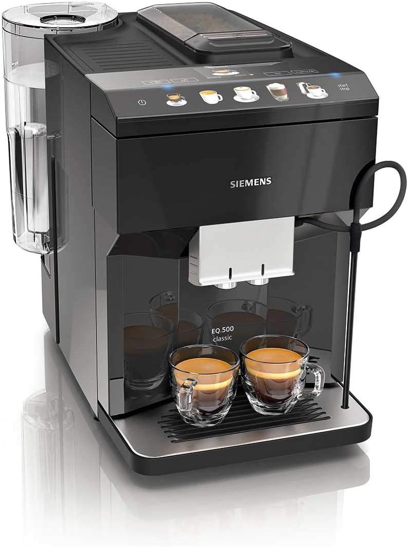 Siemens TP503R09 Cafetera espresso superautomática, EQ.500 Classic, Negro, 1500 W, 1.7 litros, Plástico
