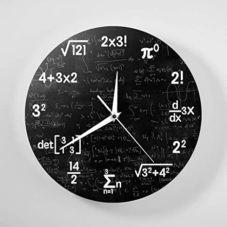 nuanyang Relojes De Pared Matemáticas Ecuaciones Y ...