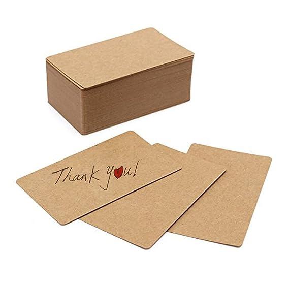 Fecedy 100 Blanko Karten Bastel Papier Visitenkarten
