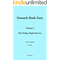 Nussach Made Easy: Volume I - The Friday Night Service book cover