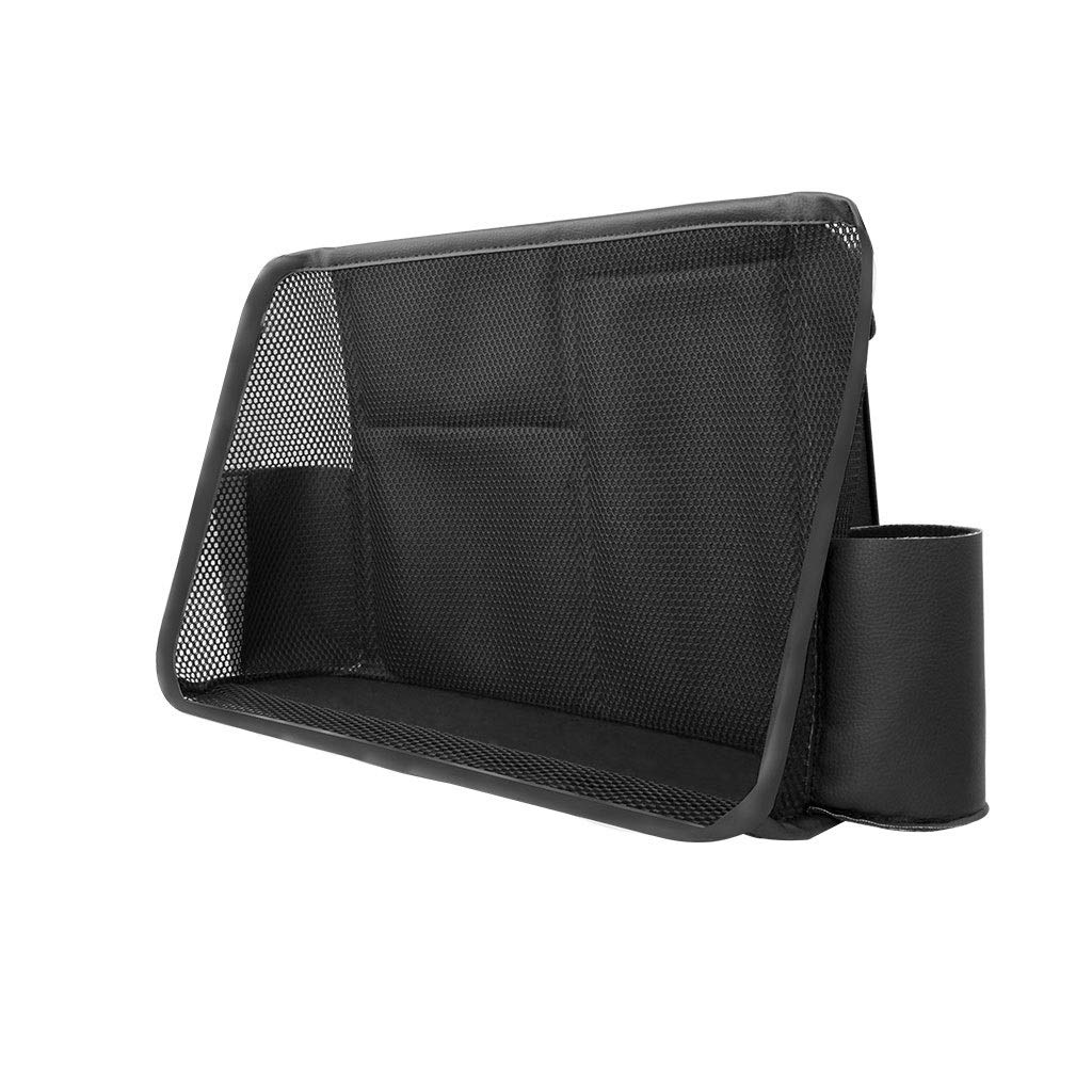 Car Rear Seat Hanging Storage Bag PU Leather Car Rack Seat Management Garbage Bag Interior Accessories (Color : Black)