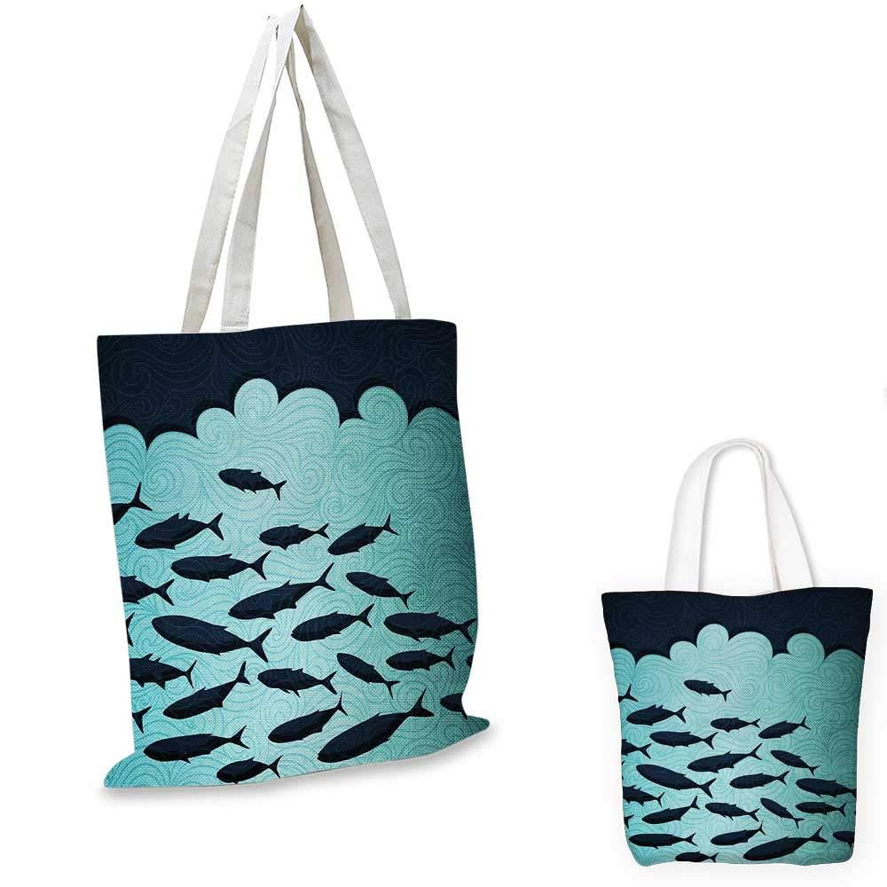 魚の形をした丸みを帯びた様々なサイズの魚のモチーフ。水中で世界中のエキゾチックなFauna Gills DesignMulticolor。 15