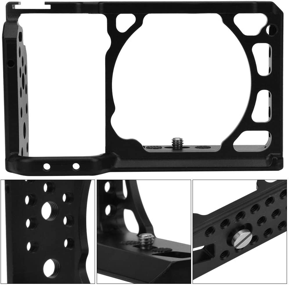 A6 Metal Protective Housing Shell Frame Cage with Hot Shoe Mount and 1//4 and 3//8 Threads for Sony A6500 A6400 A6300 A6000 Cameras Camera Frame Cage