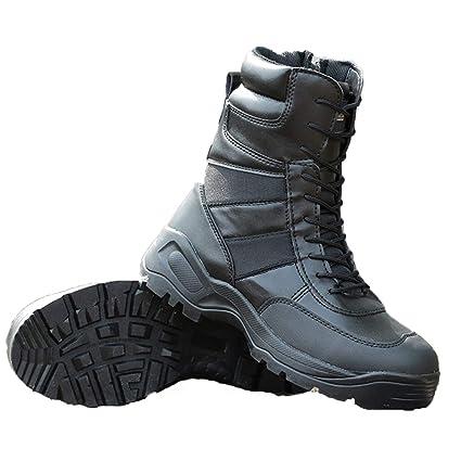 f80a3296e8633 Amazon.com: Tactical Boots Military Men Hunting Trekking Lace Zip ...