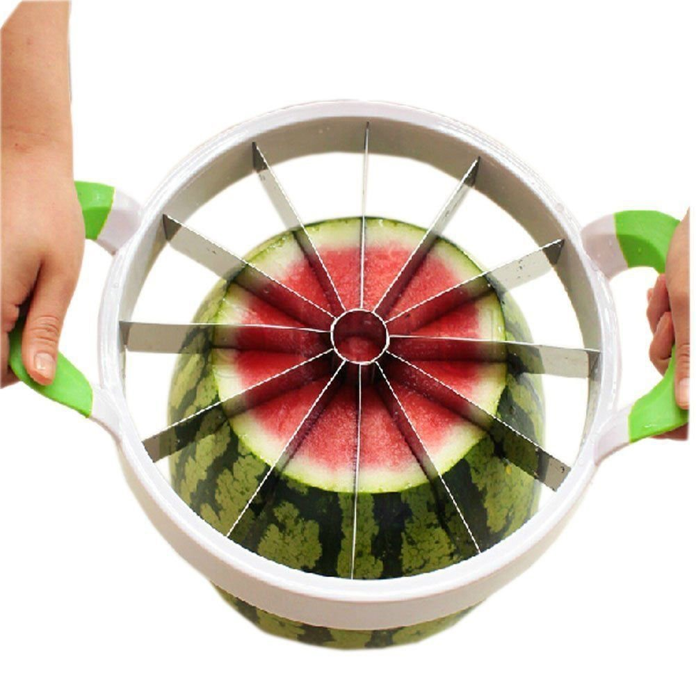 Fruit Melon Cantaloupe Slicer Watermelon Divider Kitchen Tools Heavy Stainless Cutter For Ccutting Ball Shape Fruit And Vegetable