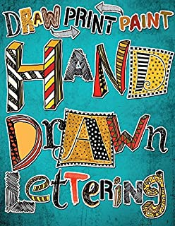 Book Cover: Hand Drawn Lettering: Draw Paint Print