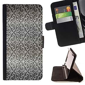 - WALLPAPER WALLPAPER GREY INTERIOR DESIGN - - Prima caja de la PU billetera de cuero con ranuras para tarjetas, efectivo desmontable correa para l Funny HouseFOR Samsung Galaxy S6