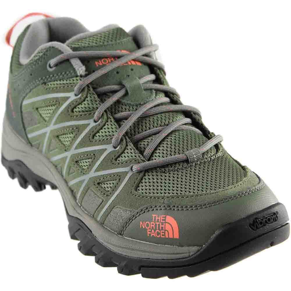 The North Face Storm III Shoe Women's Deep Lichen Green/Feather Orange 7.5