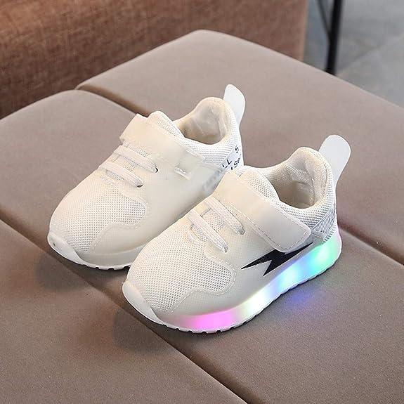 KUDICO b/éb/é Sneakers Enfants Unisexe Filles Gar/çons Chaussures Lumineuses Lightning LED Sport Lumineux Chaussures