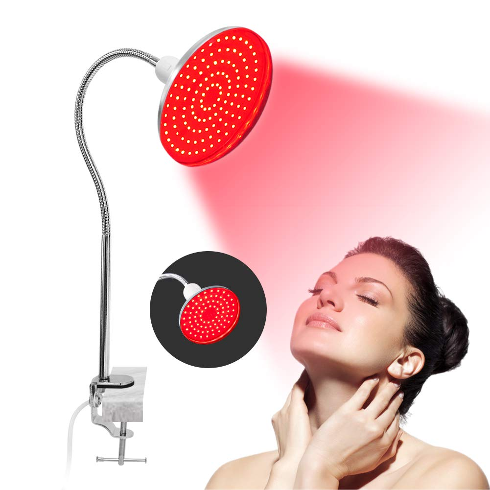 Led Red Light Therapy Lamp for Skin and Pain Relief Improve Sleep Blood Circulation 660nm Grow Light Set with Stand