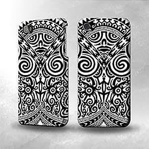 Apple iPhone 4 / 4S Case - The Best 3D Full Wrap iPhone Case - Maori Tattoo