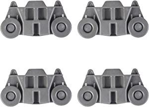 Dishwasher Wheels Lower Rack, W10195417 Lower Dishwasher Wheel, Perfect Replacement for Whirlpool, KitchenAid & Kenmore Dishwasher(4pcs)