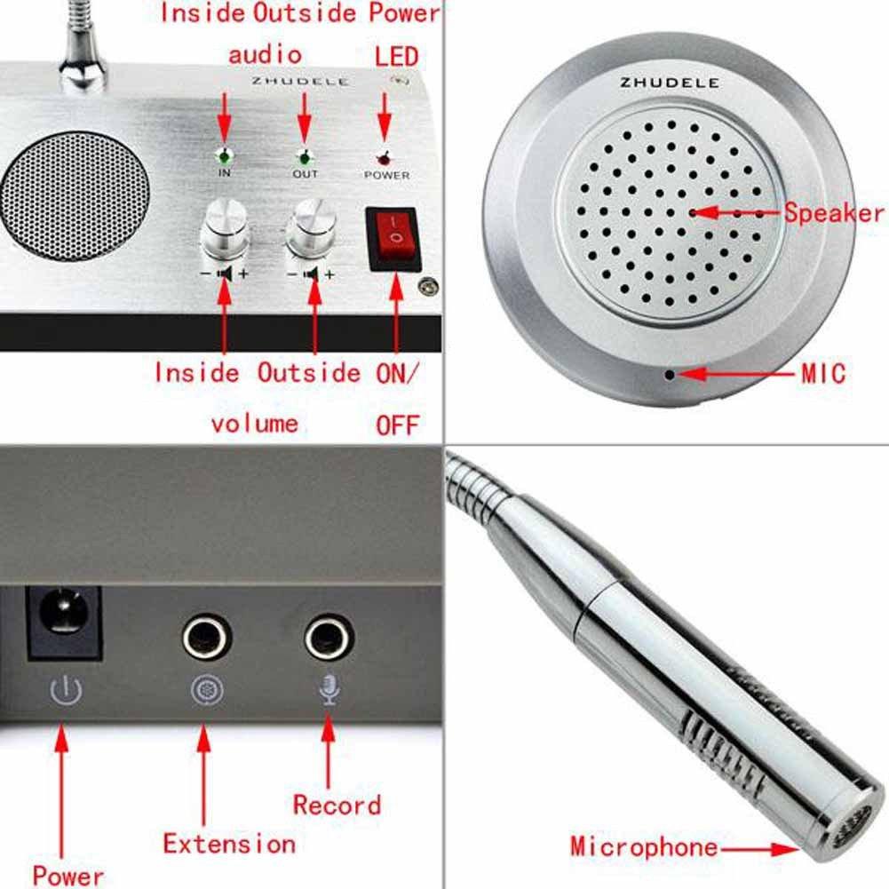 Higootm Zdl 9908 Bank Office Store Station Counter Intercommunication Intercom Circuit Window System Dual Way Microphone Interphone Camera