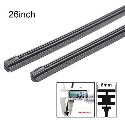 ZHUOTOP 1 pieza de repuesto de limpiaparabrisas de metal de 6 mm para coche, de