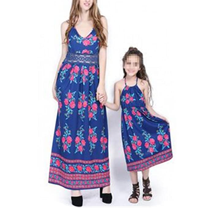 2d652b23be24 Jiamingyang Family Style Mother and Daughter Matching Clothes Long ...