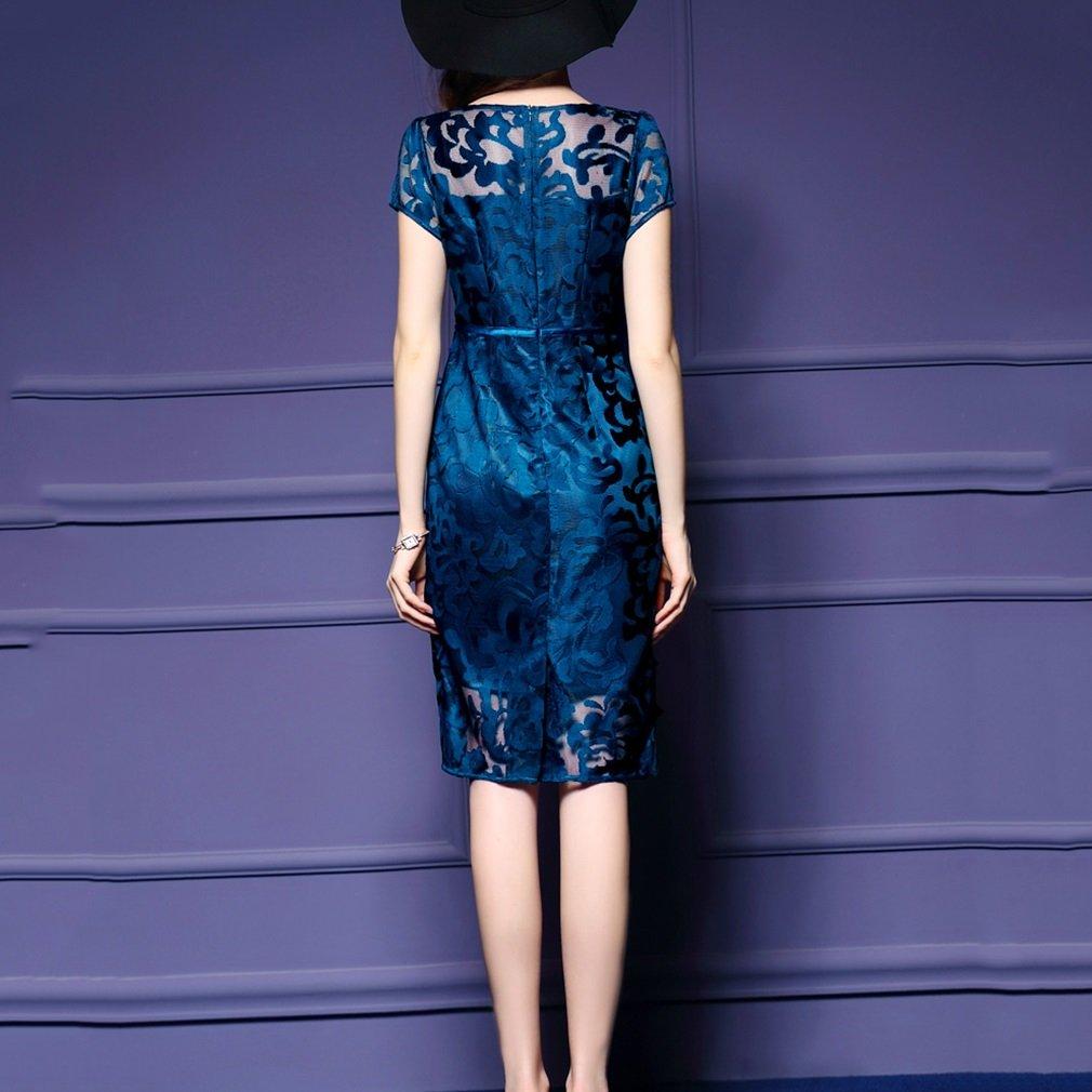 Vestido de mujer Vestidos de dama autocultivo net bordado de hilo ...