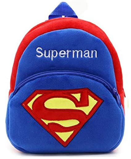 1dae837779 Amazon.com  New Cute Plush Superman Mini Backpack for Young Children Ages  3-5 Years Old  Toys   Games