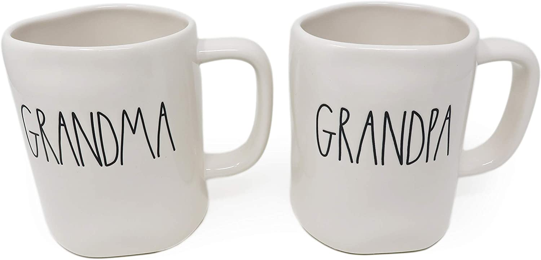 Grandma /& Grandpa bear matching mugs.