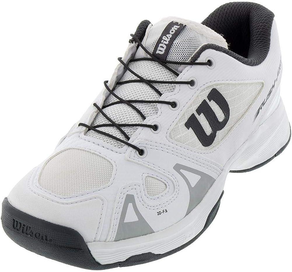4 White//White//Ebony Wilson RUSH PRO JR QL Tennis Shoes
