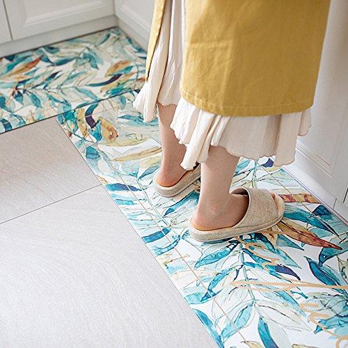KIMODE Kitchen Mat,Classic Comfort Chef Soft Non-Slip Waterproof Rubber Carpet Kitchen Floor Dry Mats Cushioned Oil Proof Doormat Runner Rug Washable Durable Bathroom Area Rugs (18