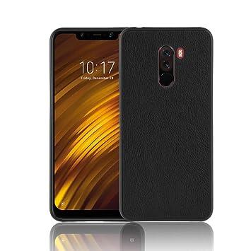 Coque Funda Xiaomi Pocophone F1,TPU y Cuero de PU Carcasa de ...
