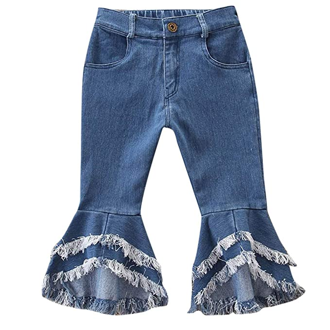 5b6b1c9019f Kinrui baby clothes Boys Girls Toddler Little Kids Girls Denim Stretch Snug  Fitting Long Jeans Flares