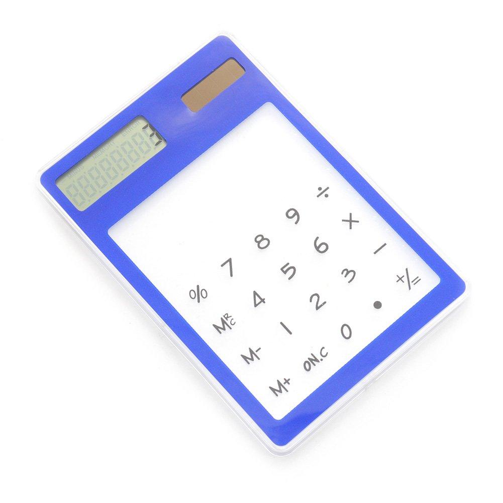 Verde LCD a 8 cifre Touch Screen Sottile Carta di Credito Economica energia Solare Mini calcolatrice novit/à Piccolo Viaggio allIngrosso Compatto