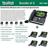Yealink SIP-T48G 6-Line Ultra-Elegant Gigabit IP Phone (5-Pack)
