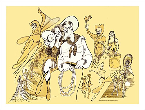 WILL ROGERS FOLLIES, Hand Signed by AL HIRSCHFELD, Limited Edition Lithograph, Keith Carradine, Cady Huffman, Dee Hoty, Tom and Bonnie Brackney With The Mad Cap Mutts, and Vince Bruce
