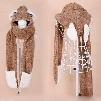 d31cc8d15 Unisex para niños Suave Invierno cálido Bufanda con Capucha Pañuelo de Cuello  Cuello con Capucha Sombrero