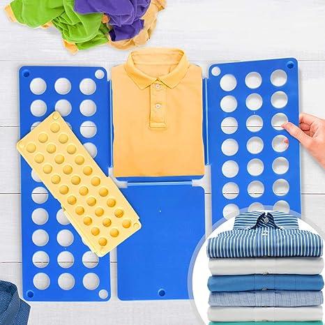 Grande Doblador de ropa Juego de 2 | en Azul (L/H: 70/59 cm) y ...
