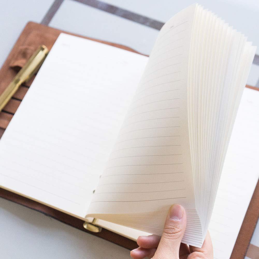 CYOS Vintage Cubierta de Cuero Suave Diario A5 Cuaderno en Blanco Laboratorio de Viaje Notas
