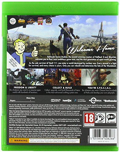 Fallout 4 (with Fallout 3 DLC) Xbox One Game by Bethesda (Image #1)