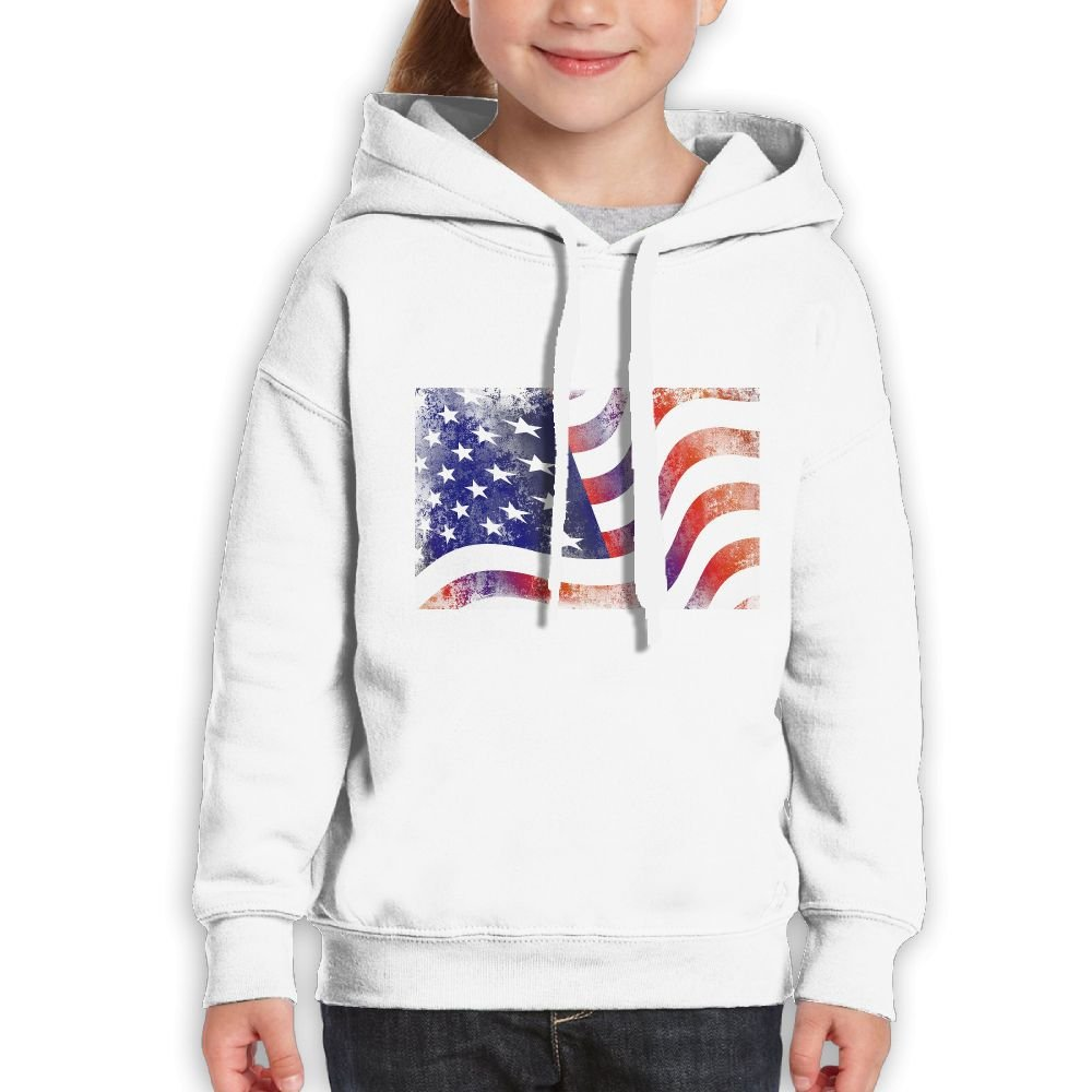 GLSEY American Flag Art Design Youth Soft Casual Long-Sleeved Hoodies Sweatshirts