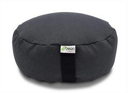Amazon.com : Bean Products Hemp Shadow Gray - Round Zafu ...