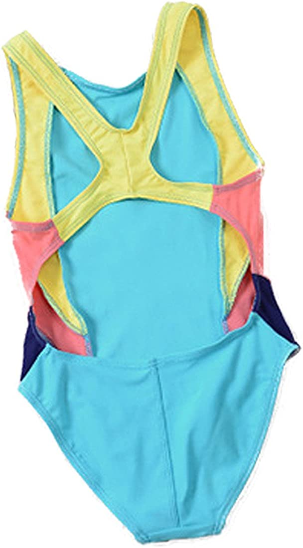 REWANGOING Baby Kids Little Girl One Pieces Swimwear Summer Sleeveless Backless Athletic Sports Swimsuits