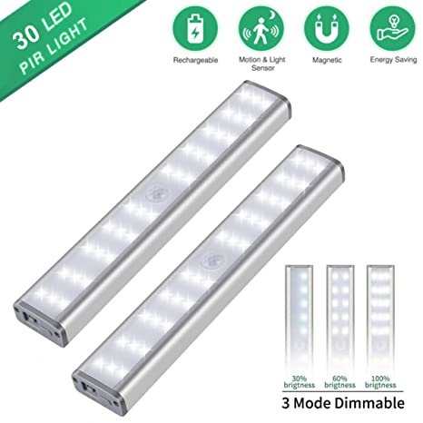 Amazon.com: Luz de armario con sensor de movimiento, 20 ...